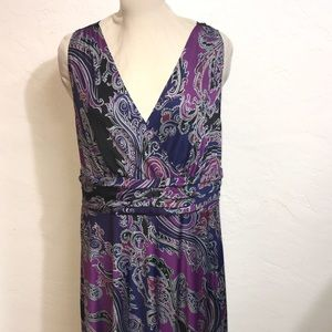 SLEEVELESS Size 2X Pattern Dress